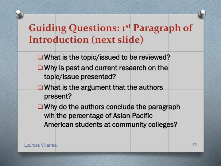 Guiding Questions: 1