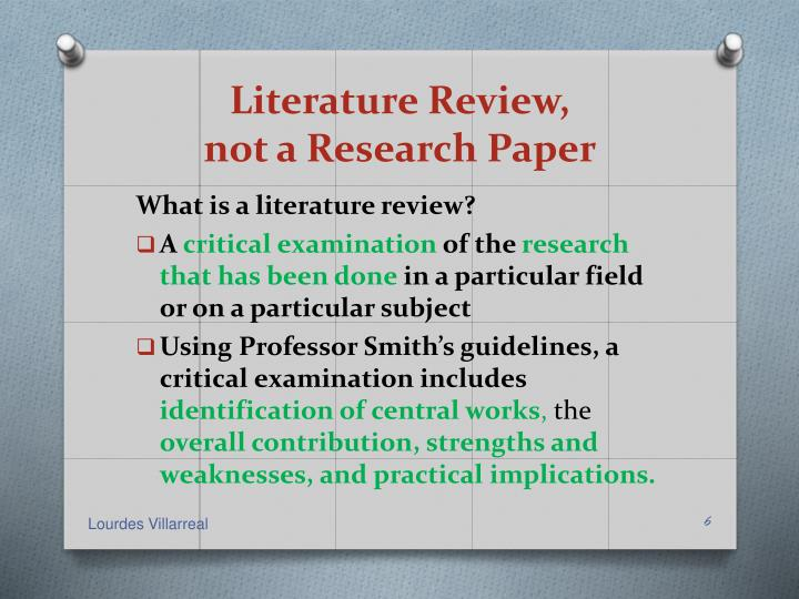 Literature Review,