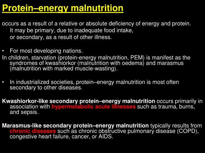 Protein–energy malnutrition