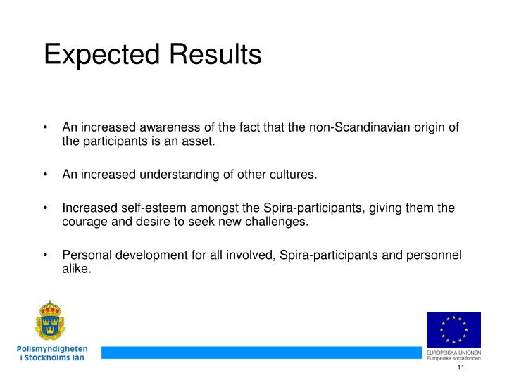 An increased awareness of the fact that the non-Scandinavian origin of the participants is an asset.