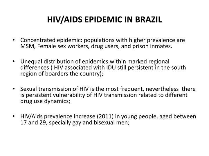Hiv aids epidemic in brazil