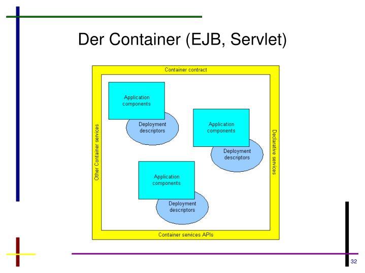 Der Container (EJB, Servlet)