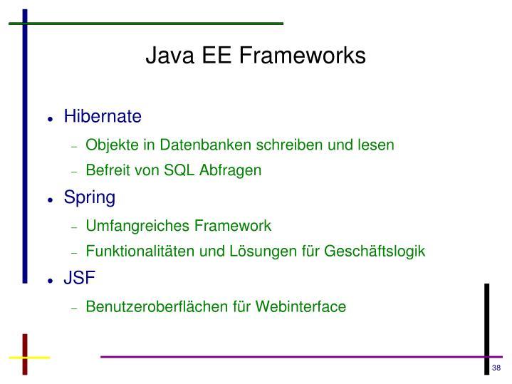 Java EE Frameworks