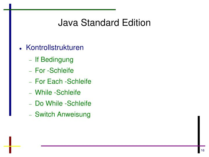 Java Standard Edition