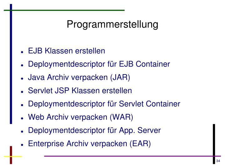 Programmerstellung