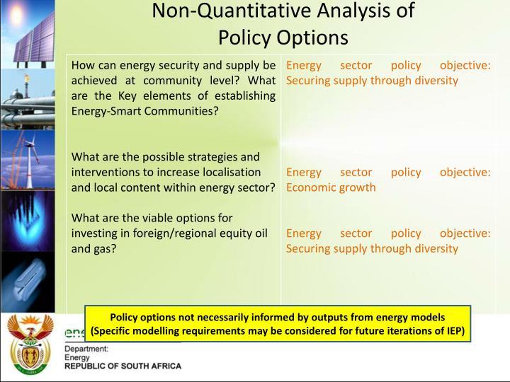 Non-Quantitative Analysis of