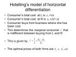 hotelling s model of horizontal differentiation1