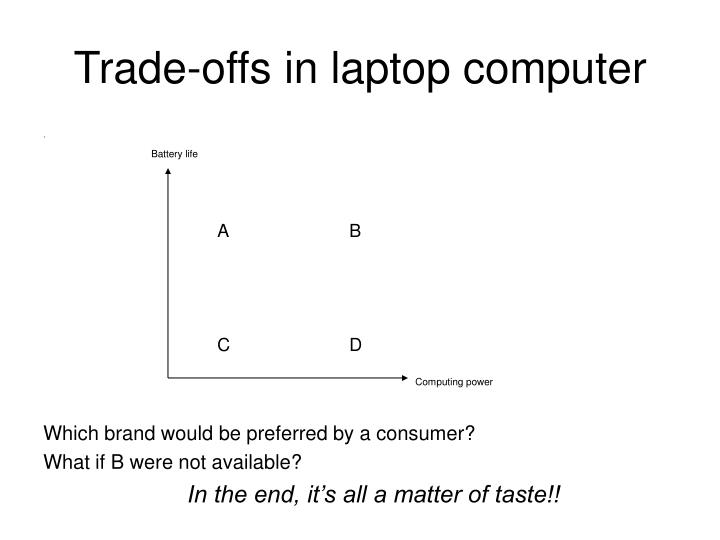 Trade-offs in laptop computer