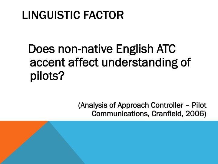 Linguistic factor