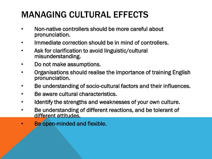 MANAGING CULTURAL effects