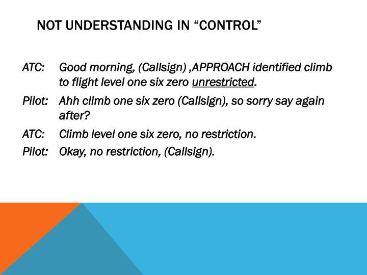 """Not understanding in """"control"""""""