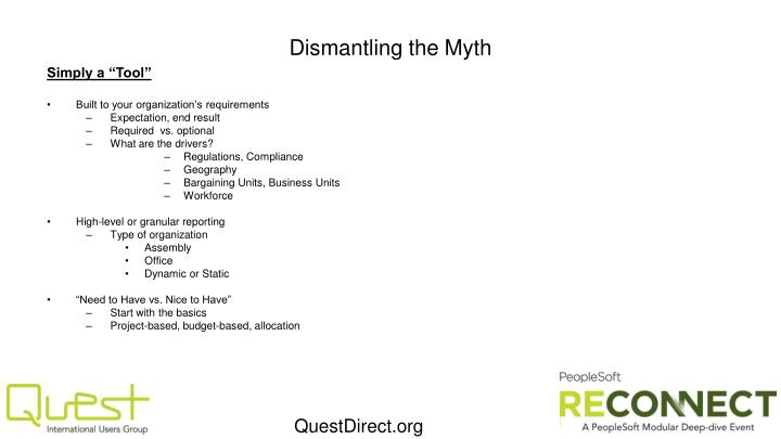 Dismantling the Myth