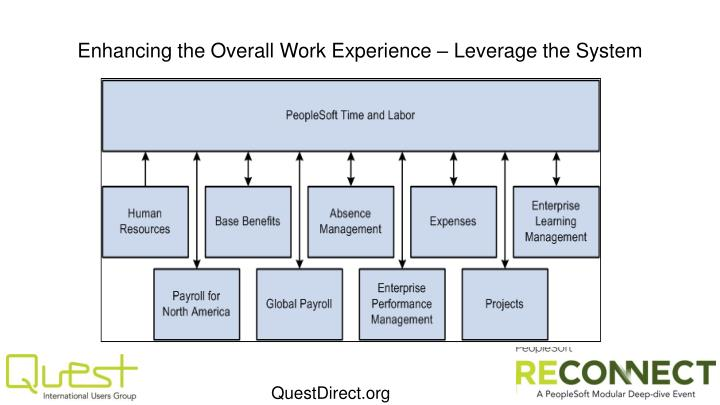 Enhancing the Overall Work Experience – Leverage the System