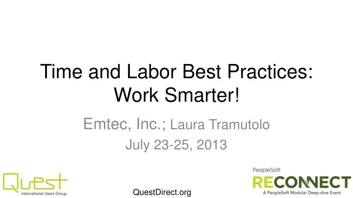 Time and labor best practices work smarter
