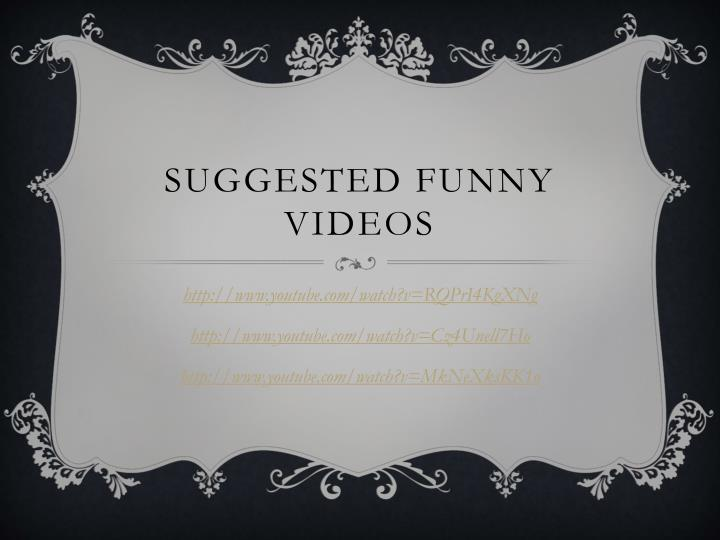 Suggested funny videos