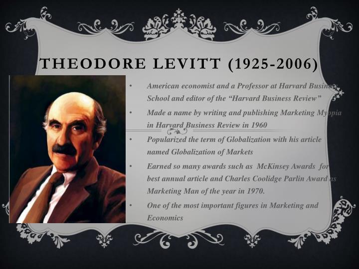 Theodore Levitt (1925-2006)