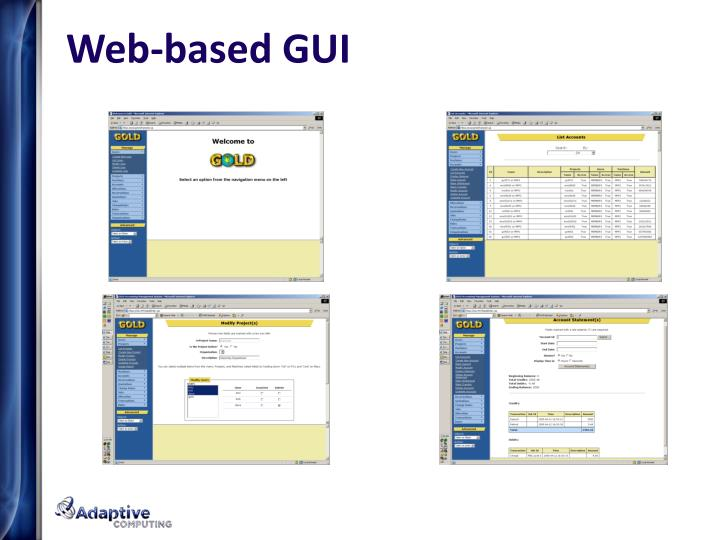 Web-based GUI