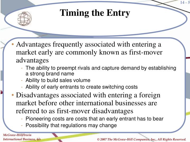 first mover disadvantage Start studying ch 6 to undertake strategic moves based upon whether it is advantageous to be a first mover or a fast the advantage and disadvantage of a.