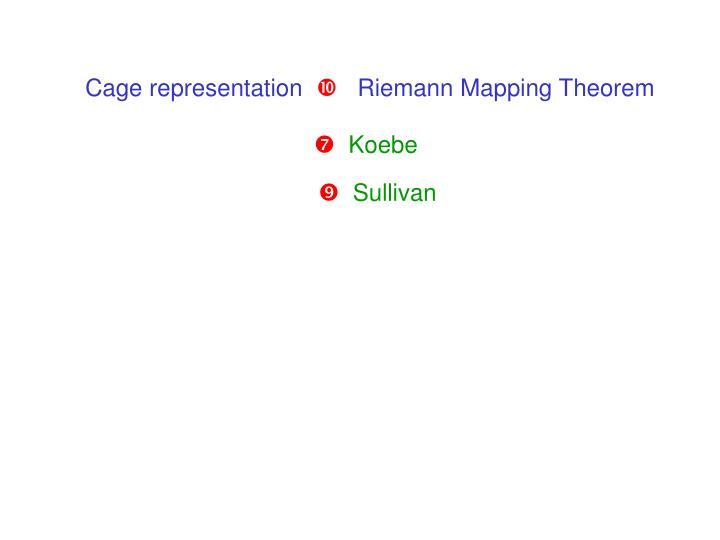 Cage representation