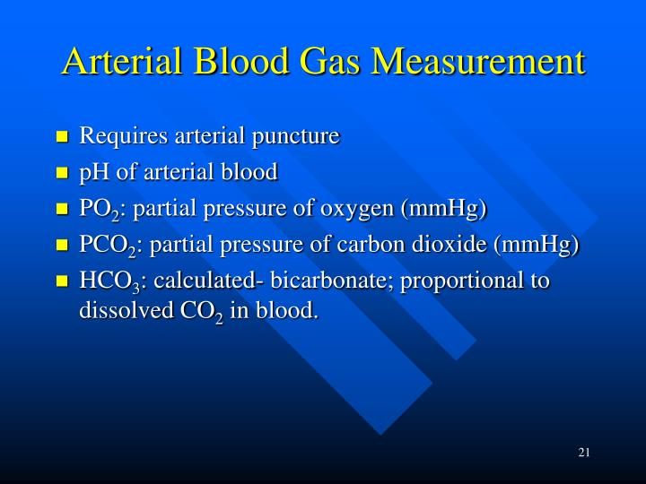 Arterial Blood Gas Measurement