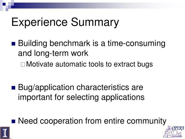 Experience Summary