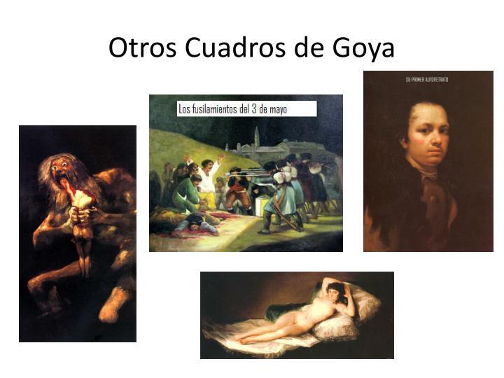Otros Cuadros de Goya
