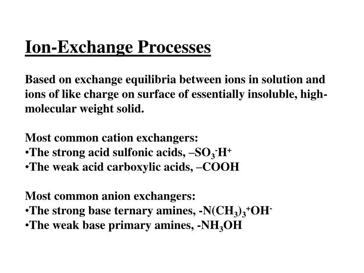 Ion-Exchange Processes