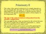 polarimetry ii