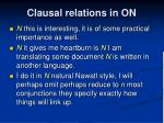 clausal relations in on3
