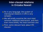 inter clausal relations in orizaba nawatl
