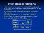 inter clausal relations