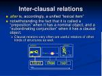 inter clausal relations1