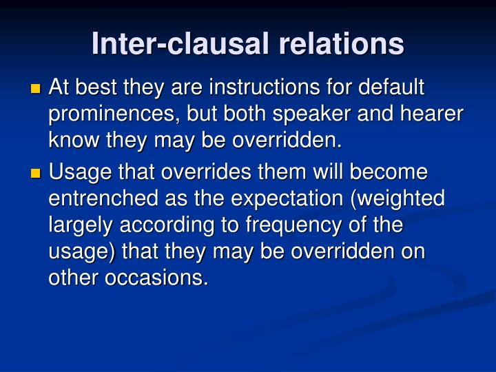 Inter-clausal relations