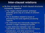 inter clausal relations7