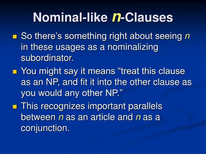 Nominal-like