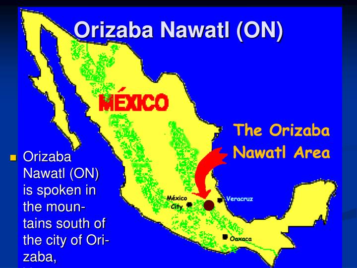 Orizaba nawatl on