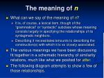 the meaning of n