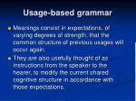 usage based grammar1
