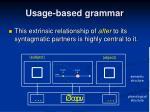 usage based grammar11