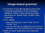usage based grammar2