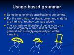 usage based grammar5