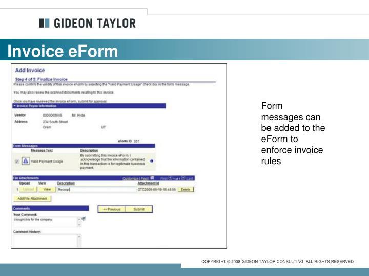 Invoice eForm
