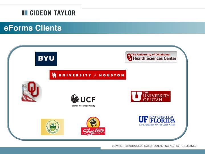 eForms Clients