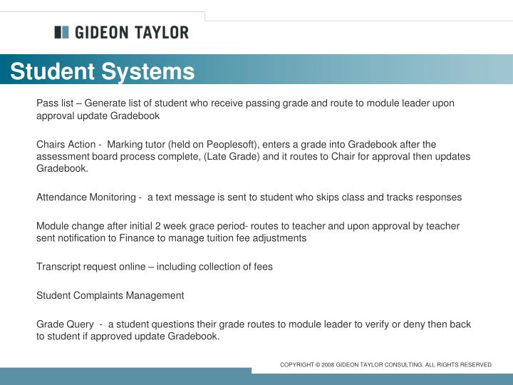 Student Systems