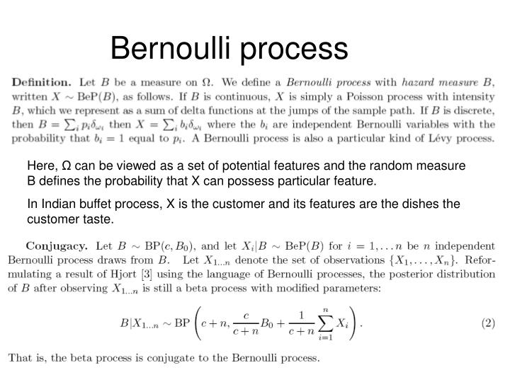 Bernoulli process