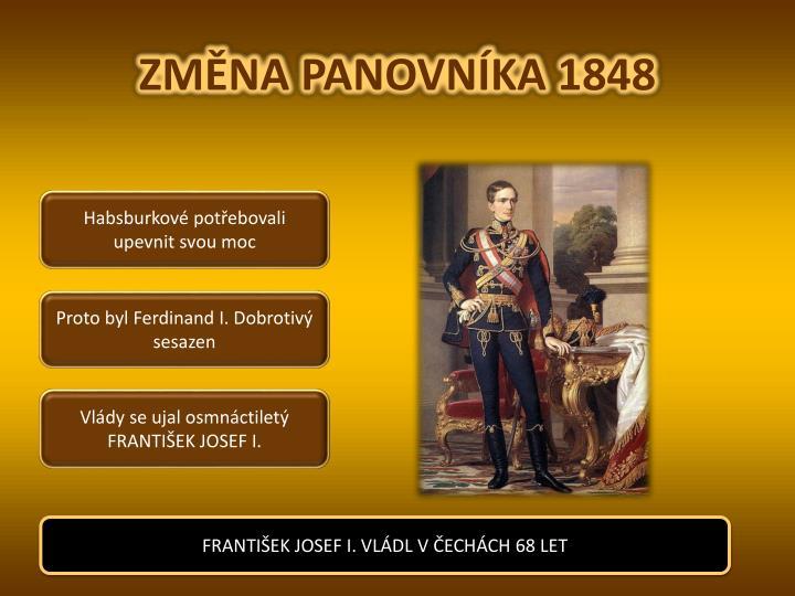 ZMĚNA PANOVNÍKA 1848