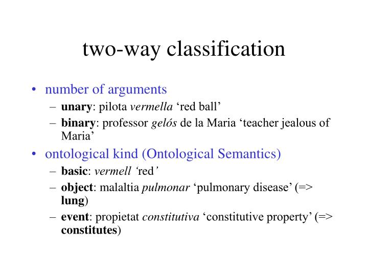 two-way classification