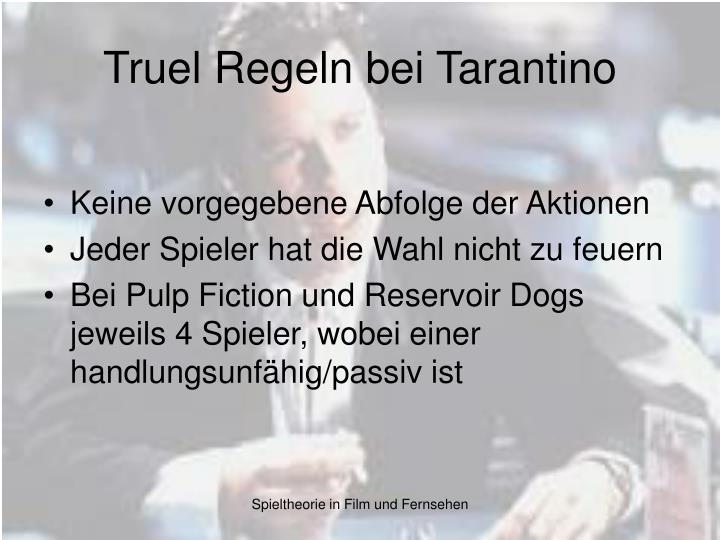 Truel Regeln bei Tarantino