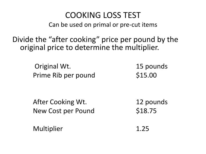 COOKING LOSS TEST