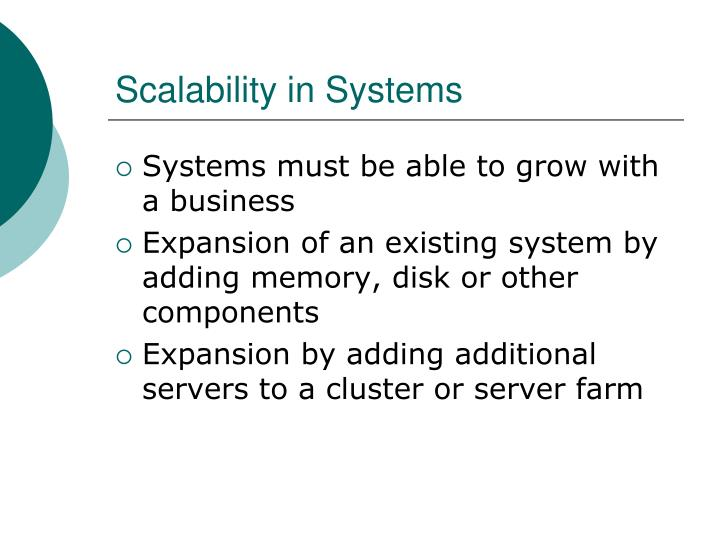 Scalability in Systems